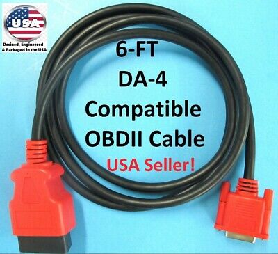6FT Snap On Scanner DA-4 Compatible OBDII OBD2 Data Cable For VERUS EDGE EEMS330