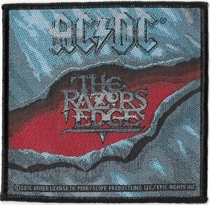 Official-Merch-Woven-Sew-on-PATCH-Heavy-Metal-Rock-AC-DC-The-Razors-Edge