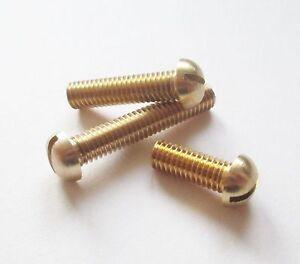 """1//8/"""" Whitworth x 1//2/"""" Brass Round Head Machine bsw Screws Qty 10 UK Manufacturer"""