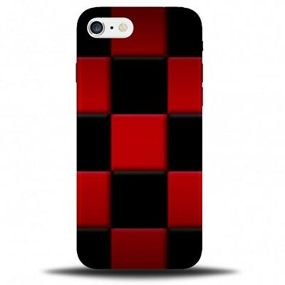 cheap for discount 36c83 67e3d Large Black and Red Chequered Phone Case Cover   Squared Patterned B736    eBay