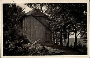 Thueringer-Wald-DDR-Postkarte-1953-Ilmenau-Goethe-Haeuschen-auf-dem-Kickelhahn