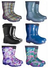Wellington Boots with LINING Womens Ladies Wellies Waterproof Walking Gardening