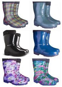 Wellington-Boots-with-LINING-Womens-Ladies-Wellies-Waterproof-Walking-Gardening