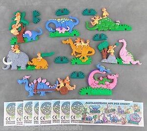 Satz-Alltagsszenen-aus-der-Urzeit-mit-allen-8-Zetteln-1995-Plastikpuzzle-UeEi-3D