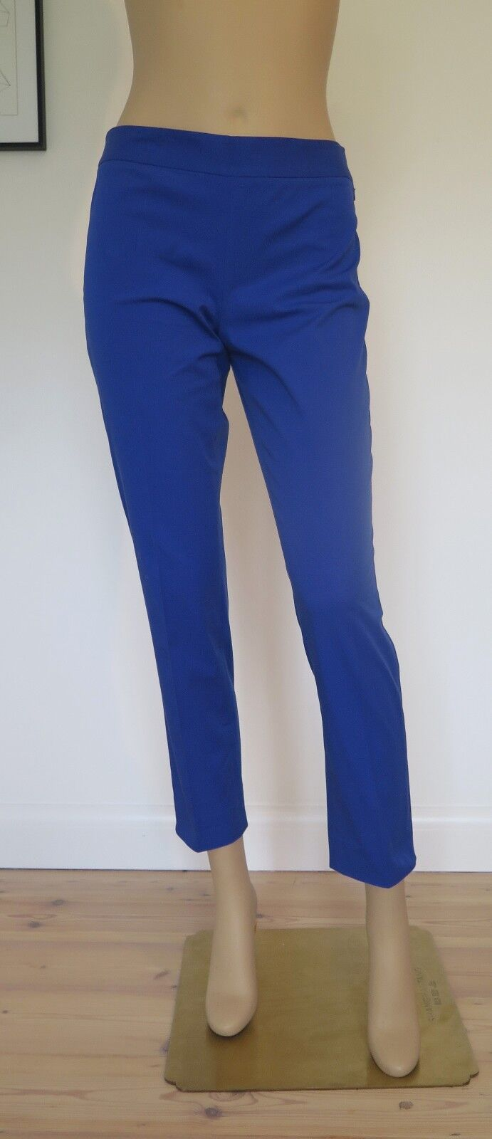 DKNY COBALT blueE CROPPED TROUSERS - SIZE SMALL - SUMMER - COTTON