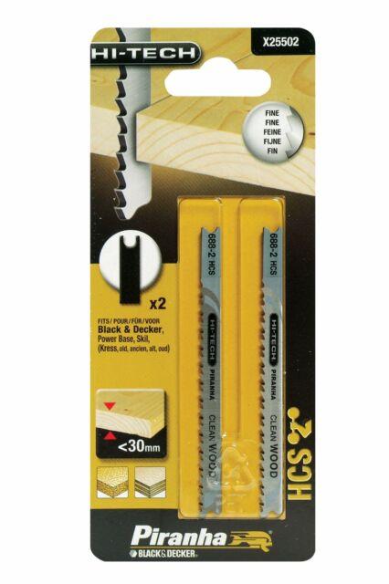 BLACK+DECKER X25502-XJ Piranha Lame seghetto alternativo per legno, conf. 2 pz
