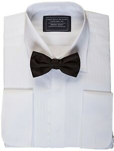 MENS-EVENING-DINNER-DRESS-TUX-TUXEDO-SHIRT-amp-BOW-TIE-BOWTIE-14-15-16-17-18-19-20