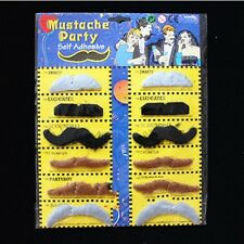 Stylish Self Adhesive Fake Mustaches Costume Party Disguise Party Favors Black