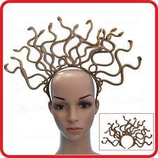 Medusa Greek Goddess Fancy Dress Costume Gold Snake Headdress Headband