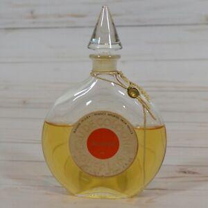 Vintage-SHALIMAR-by-Guerlain-Glass-Disk-Bottle-Glass-Stopper-EAU-de-COLOGNE-3-oz