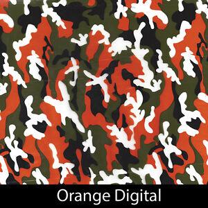 Orange digital camo Hydrographic Film animal dip stick hydro hunting gun