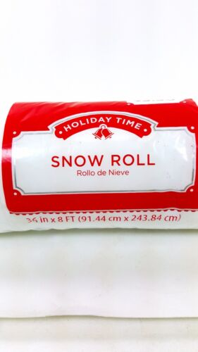 HOLIDAY TIME SNOW ROLL 36in X 8ft WONDERLAND SNOW CHRISTMAS VILLAGE CRAFTS DECOR