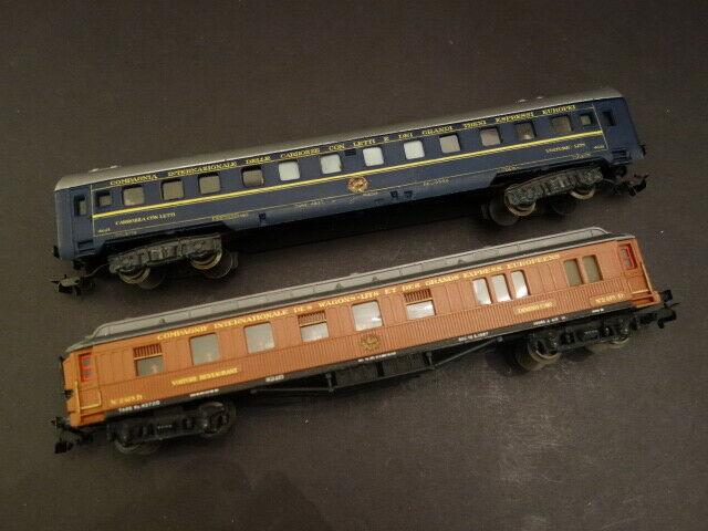 Pocher Lote de 2 CIWL 4021 y 2419D pasajero entrenadores HO Made in  1960