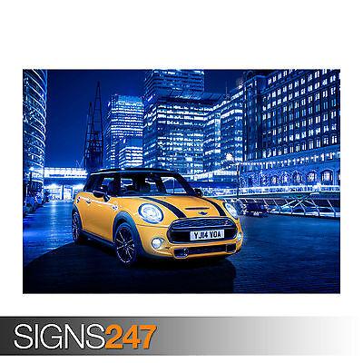 Car Poster Photo Picture Poster Print Art A0 A1 A2 A3 A4 0139 MINI COOPER S