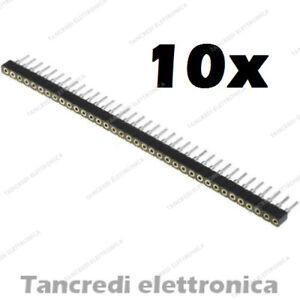 Ponctuel 10 Connettori Strip Line 40 Pin Poli Femmina Separabile 2.54mm Circuito Stampato