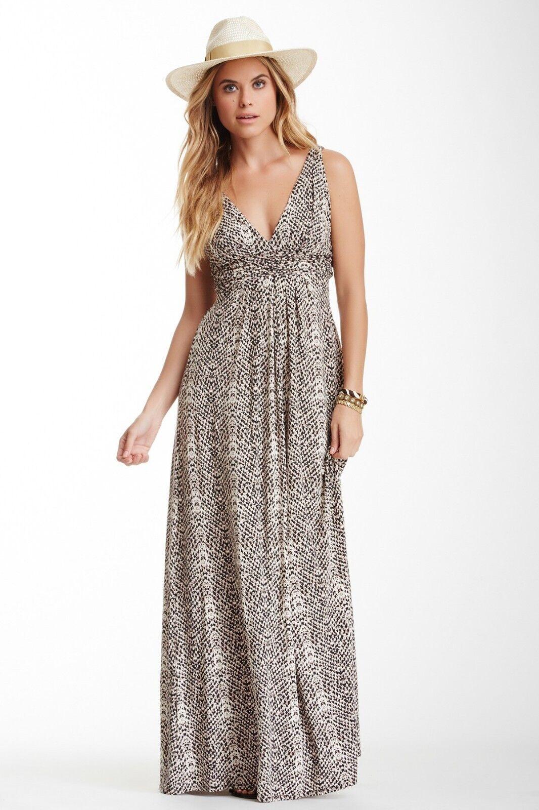 TART Collections 'Adrianna' Neutral Snake Print Maxi Dress - Sz M NWT