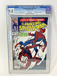 AMAZING SPIDER-MAN #361 (1992). CGC 9.8 NM/M White Pages 1st CARNAGE 🔥 Comic