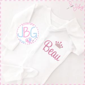 Newborn Embroidered Daddy's Princess Babygrow Sleepsuit