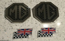 Mg ZR MK1 BADGE Upgrade Griglia Anteriore, Posteriore & 2 CHEQUERRED e UNION JACK FLAG
