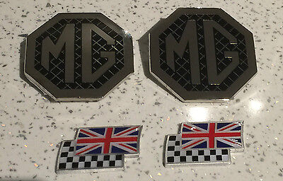 rear /& 3 chequerred and union jack flags MG ZR mk1 badge upgrade front grille