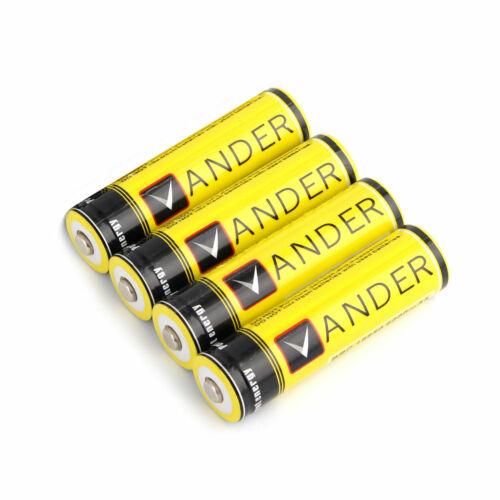 -Versand aus DE 4x Vander 18650 Akku 6000mAh Li-Ionen gelb NEU