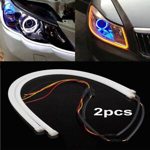 2x-Flexible-Car-Auto-Soft-Tube-LED-Strip-Light-DRL-Turn-Signal-Lamp-Accessories