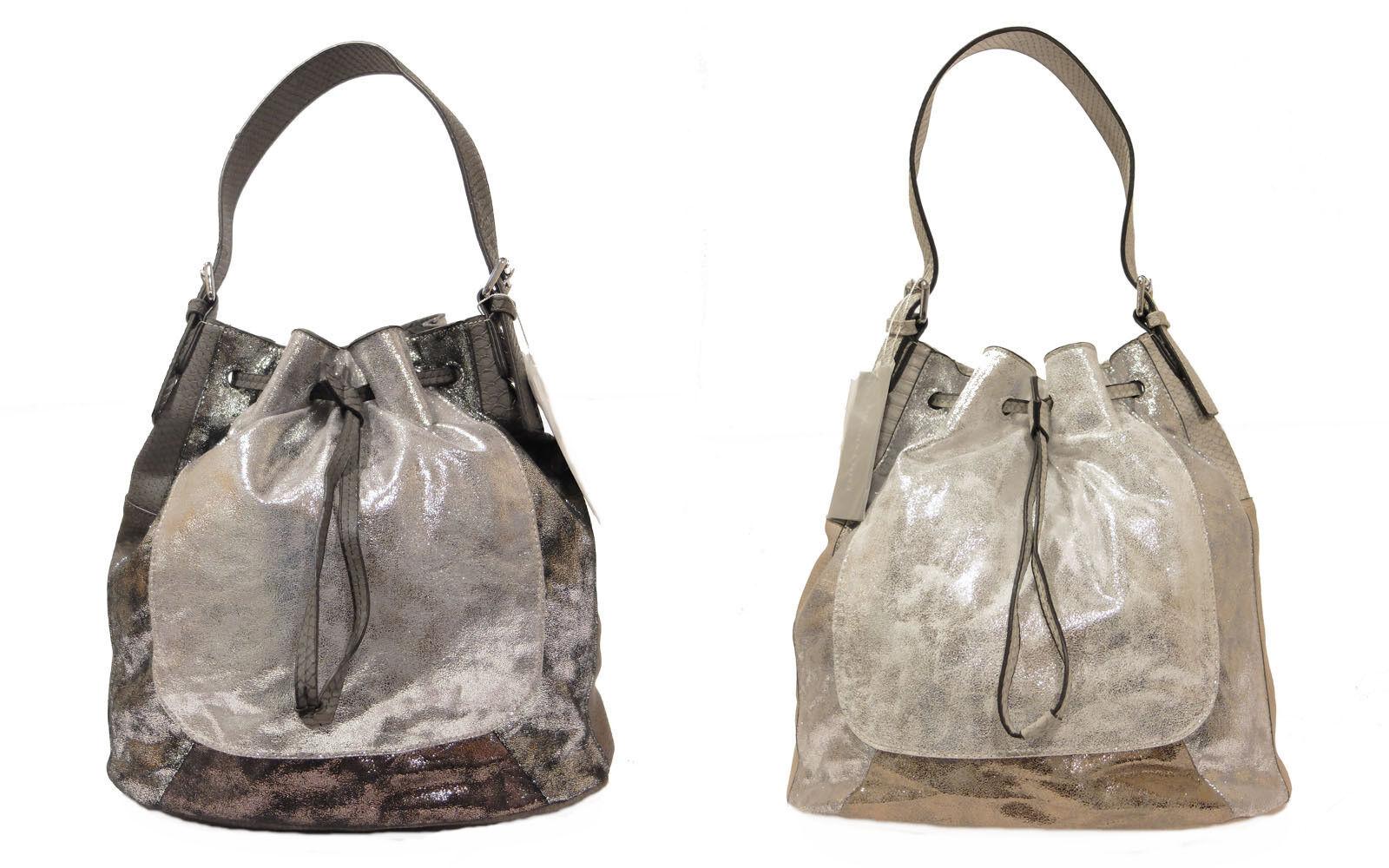 Emily & Noah Handtasche Beutel Schultertasche Tasche IN-Bag Metallic, NEU   Sale