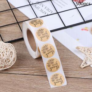500pcs-roll-Natural-Kraft-Rose-Thank-You-Stickers-seal-labels-Baking-sticker-UK
