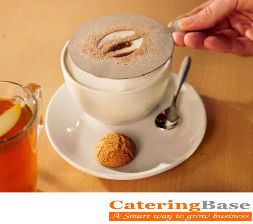 Cake,Presentation Professional Coffee Stencil Bean Design Ideal for Coffee Shop