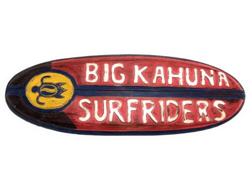 """Surfing Accents#bds1205950 Big Kahuna Surfriders Rustic Sign 20/"""""""