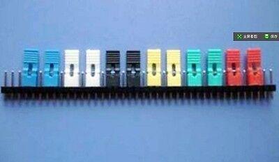 100 2.54mm Standard Circuit Board Jumper Cap Shunts Short Circuit Cap 5 colors