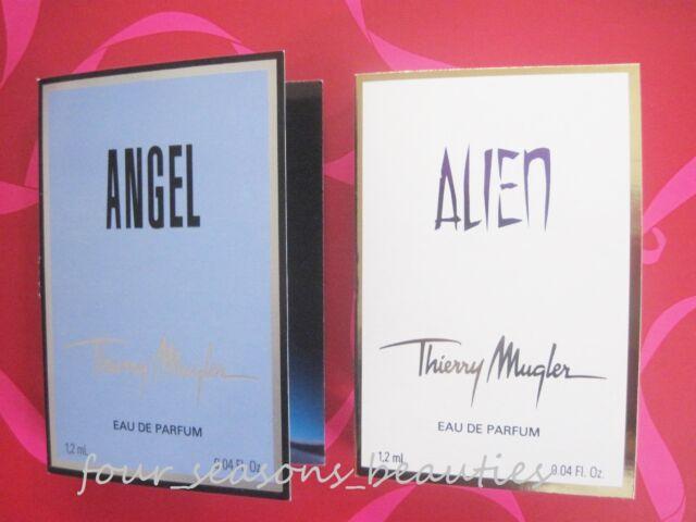 Lot 2 ANGEL & ALIEN by Thierry Mugler Women Eau de Parfum Spray Sample 0.08 oz