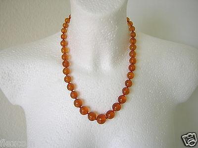 Antike Bernstein Kugel Kette Honig 34,2 G /51,5 Cm Old Amber Necklace Waren Jeder Beschreibung Sind VerfüGbar