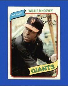1980 Topps Willie McCovey Baseball Card #335 - San Francisco Giants HOF