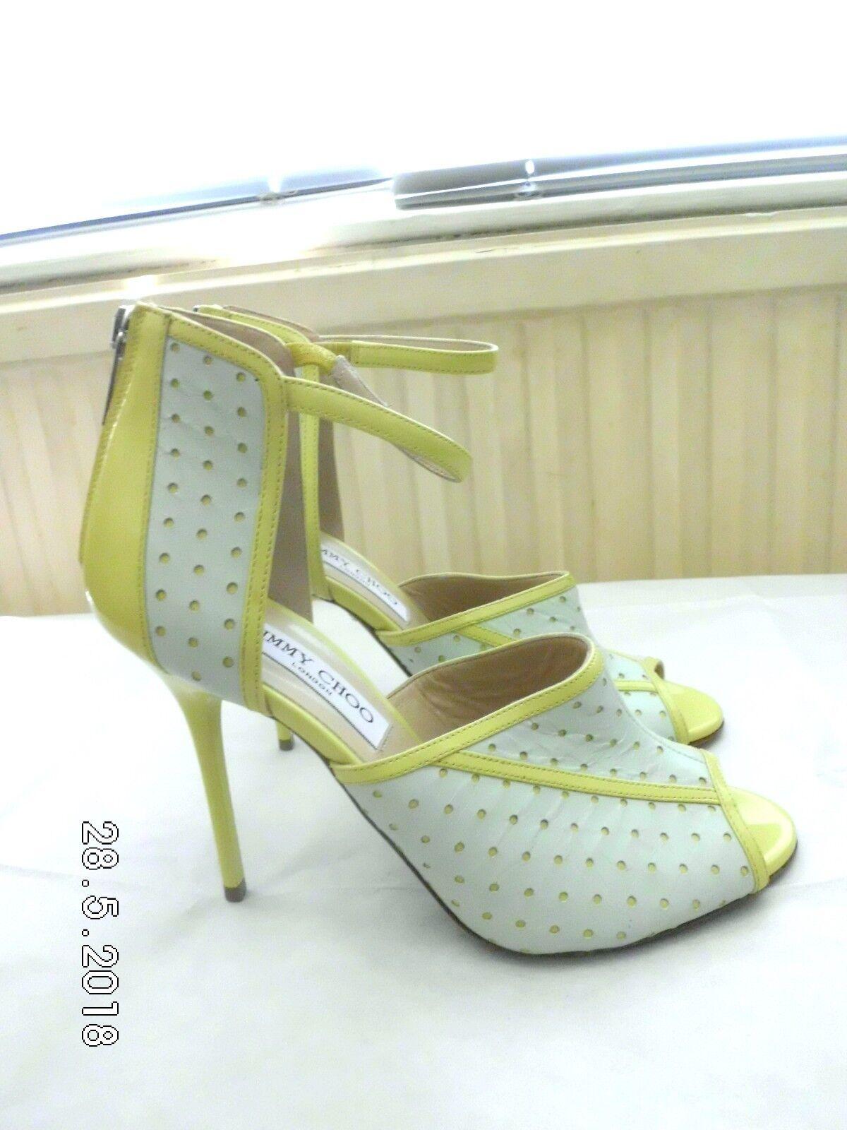Jimmy Choo RARE ankle strap Heeled 2 colour Sandales Größe UK 4  EU 37 US 7