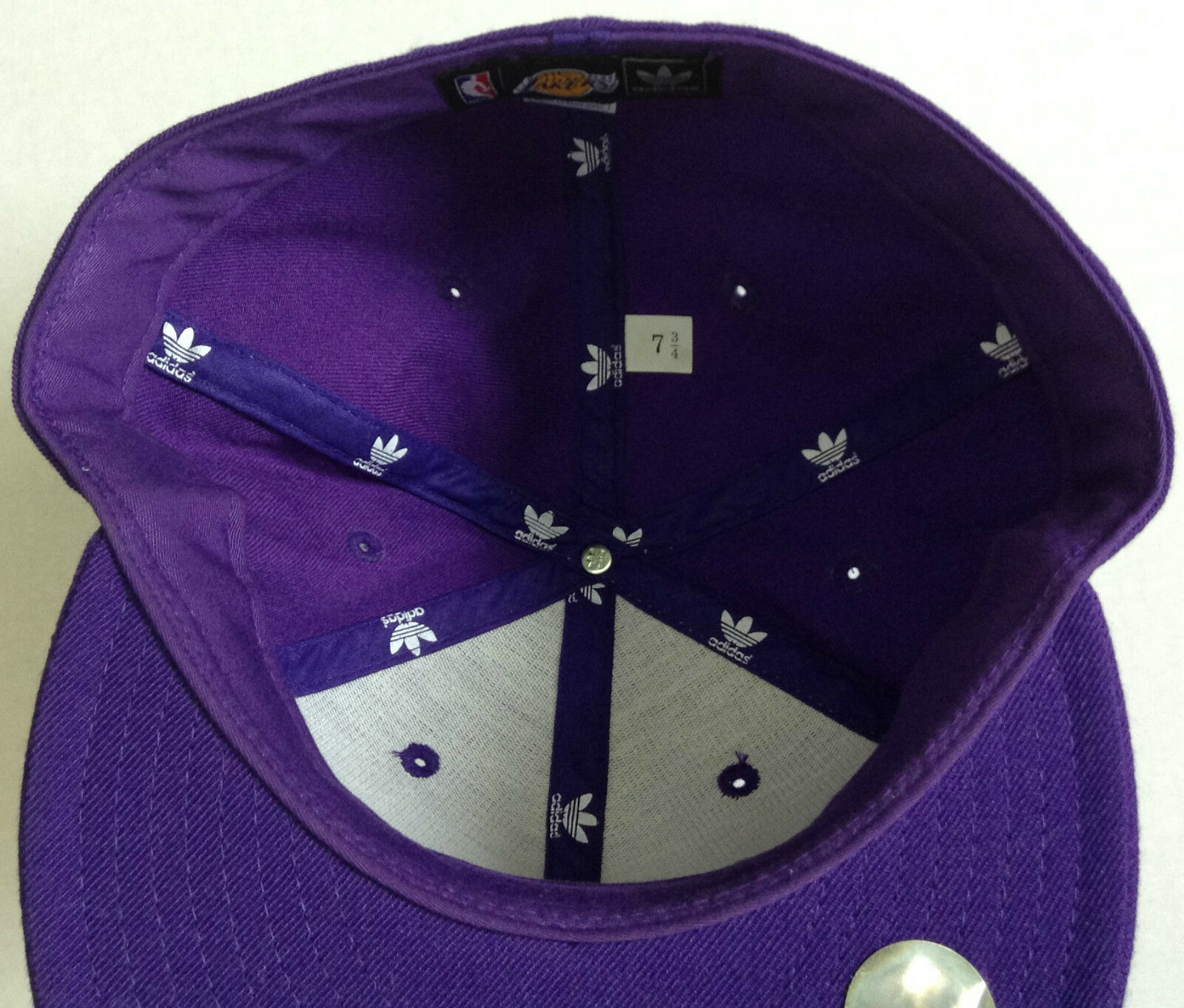 NBA Los Angeles Lakers Adidas Fitted Mütze Mütze Mütze Hut Neu 583d29