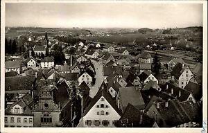 Messkirch Baden Württemberg Ansichtskarte 1956 Blick über die Dächer der Stadt