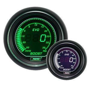 PROSPORT-EVO-Manometro-Pressione-Turbo-1-3-bar-Verde-Bianco-216EVOWGBO