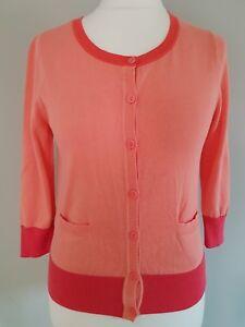 Womens-Monsoon-summer-cardigan-100-cotton-in-peach-and-pink-lightweight-medium