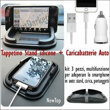 STAND TPU SUPPORTO NEWTOP AUTO + CARICABATTERIE PER SAMSUNG GALAXY S7 / S7 EDGE