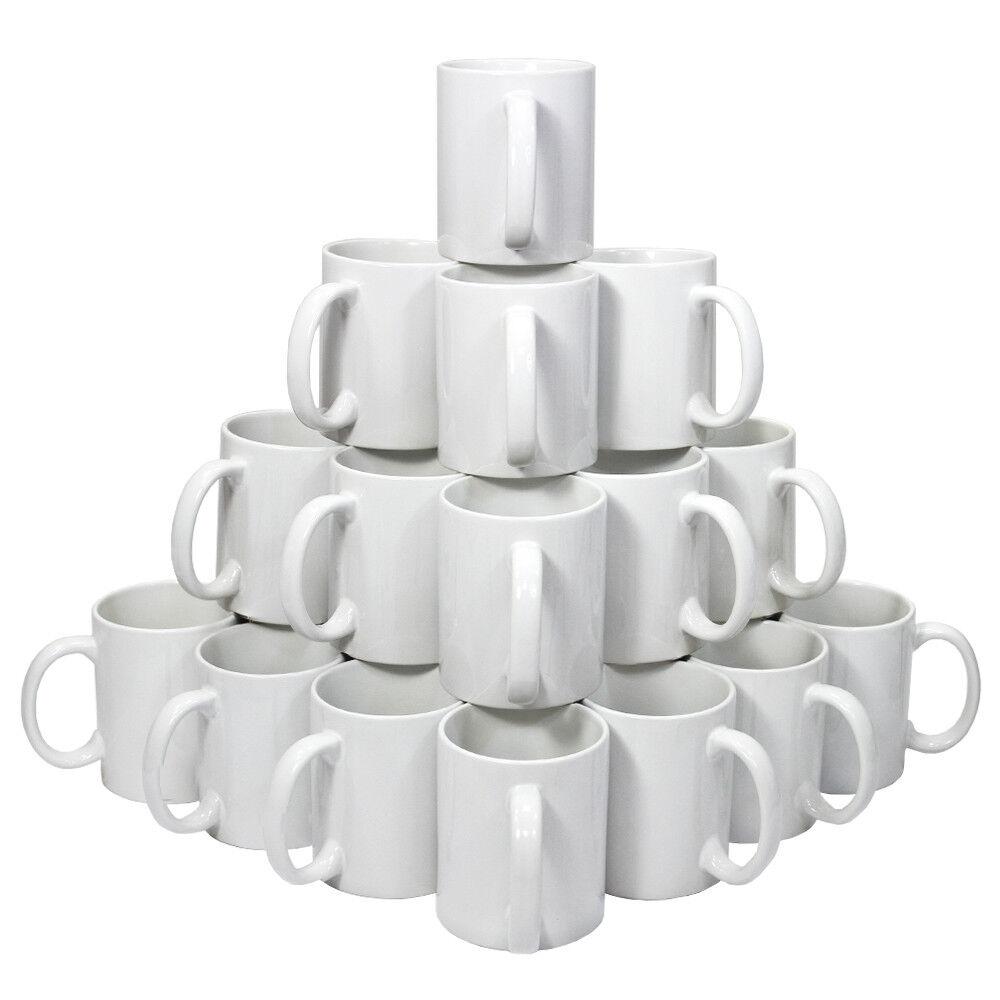 72 Tazze in Ceramica blanc Grado AAA per Sublimazione con Scatole Bianche