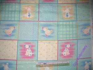 Duck-farm-animal-bunny-doll-cotton-quilting-fabric-Choose-design