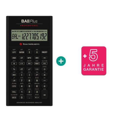 TI BA II Plus Professional Taschenrechner erweiterter Garantie