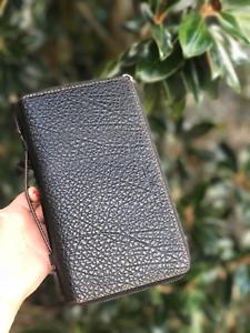83ccbc06 Details about Coach F87104 Men's Double Zip Travel Organizer Wallet Leather  Black $325