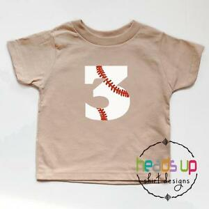 Image Is Loading Toddler 3rd Birthday Shirt Boy Girl Baseball Third