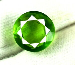 Natural 9 Ct/13 mm Round Pakistan Peridot Eye Clean Gemstone AGI Certified V2242