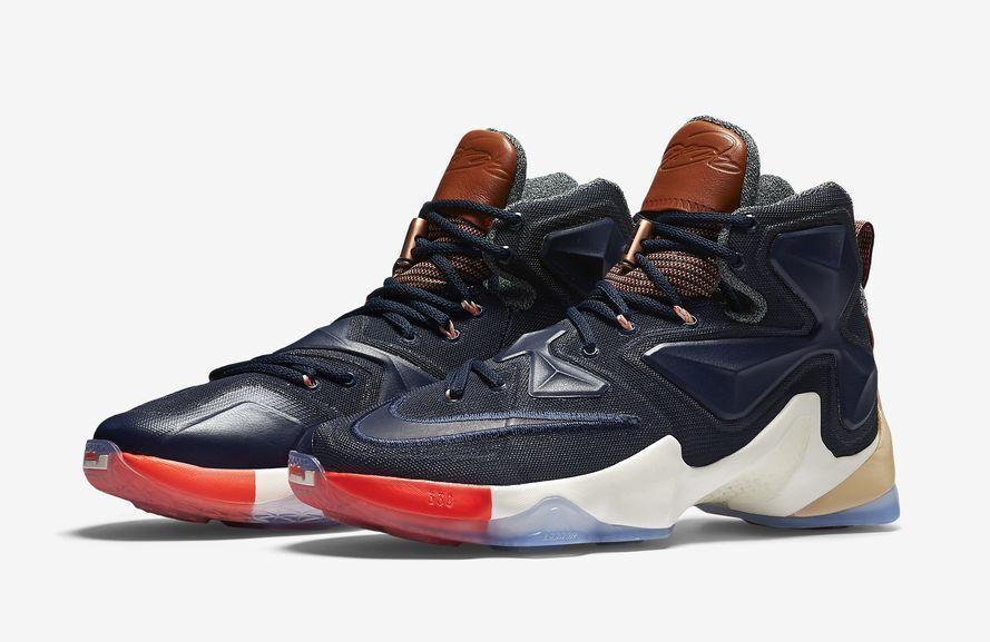 New NIKE LEBRON XIII LMTD Basket Ball Shoe Multi Colors/Obsidian/Sail 823300-941