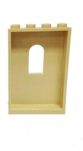 Lego 1x4x5 Panel Wall w// Window White Tan each color sold in lots of 4
