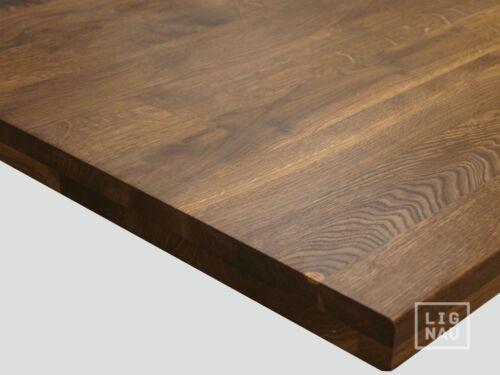 Plan de travail Plateau de table bois massif plaque räuchereiche massivement incolore huilé 4 cm