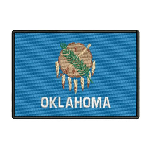 OKLAHOMA STATE FLAG Iron On Patch 3 1//2/""